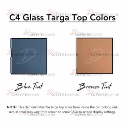C4 Glass Targa Top Colors